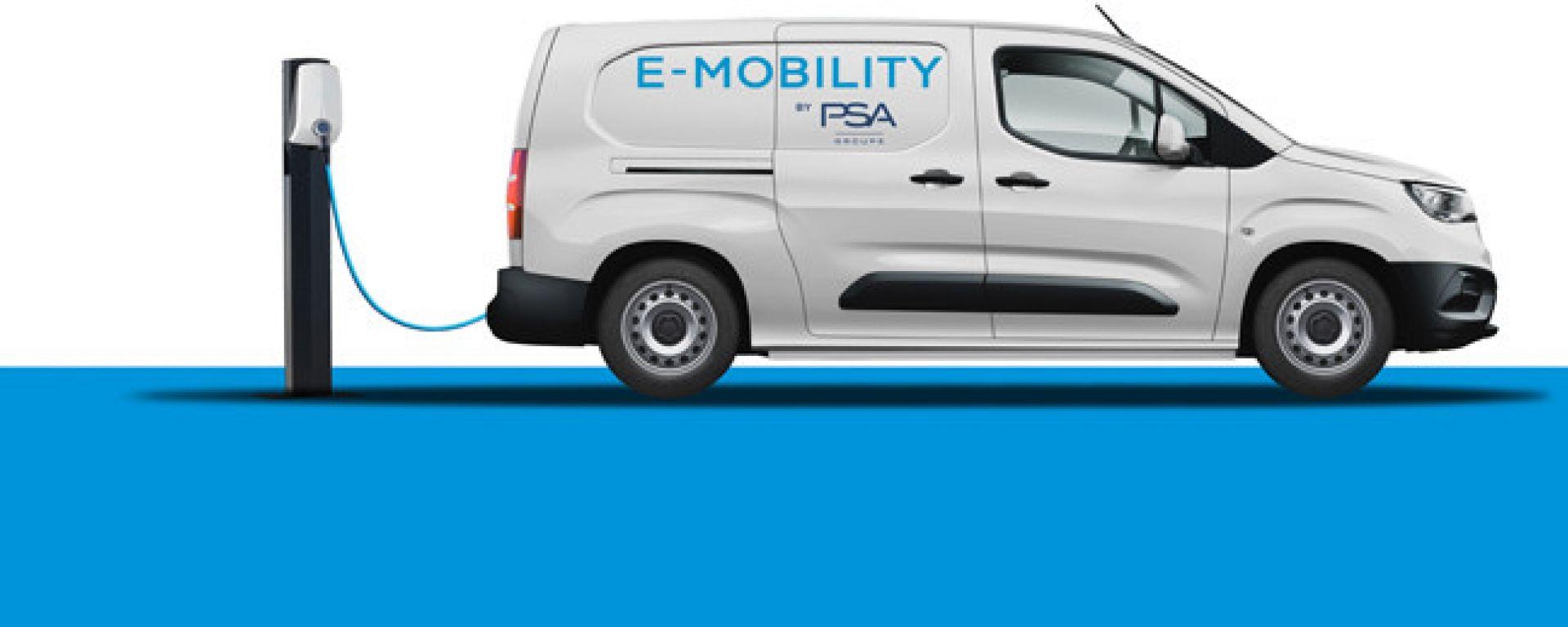 Gruppo PSA: nel 2021 versioni elettrificate per tutti i van in gamma