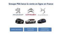 Gruppo PSA: primo nella vendita on line di veicoli nuovi in Francia