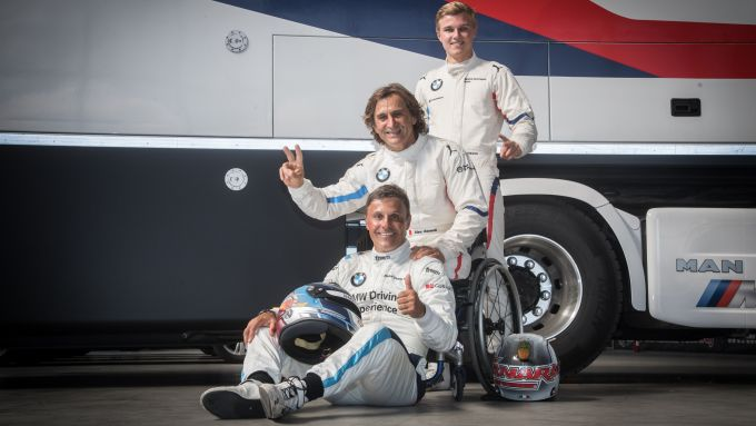 GT Italiano 2019, l'equipaggio Bmw M6 del Bmw Team Italia: Zanardi, Johansson e Comandini