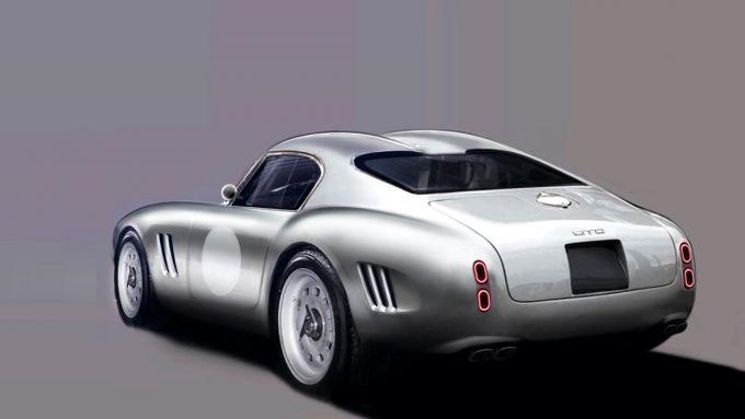 GTO Engineering Moderna, bozzetto della 3/4 posteriore