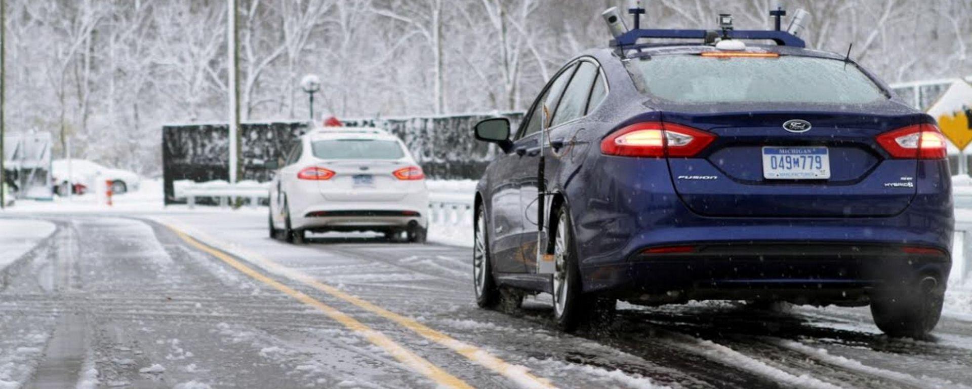 Guida autonoma, problemi con neve e ghiaccio