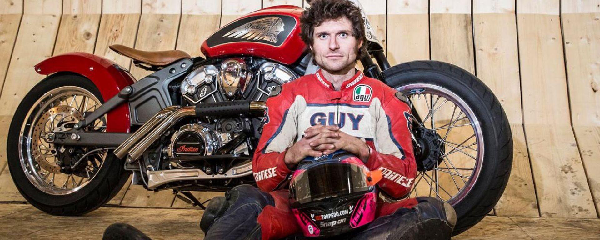 Guy Martin batte il record mondiale di velocità sul muro della morte