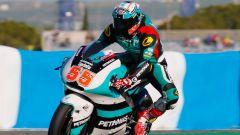 Hafizh Syahrin in azione in Moto2