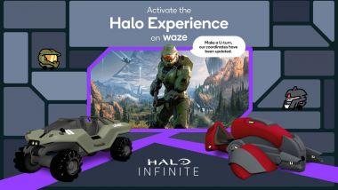 Halo su Waze, arriva l'esperienza di Halo Infinite