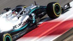 Hamilton con gomme Medium nel corso delle PL1 GP Bahrain 2019