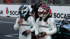 Hamilton e Bottas in Azerbaijan