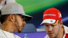 Hamilton e Vettel - GP USA 2016
