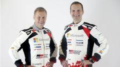 Hanninen e il suo co pilota - WRC 2017