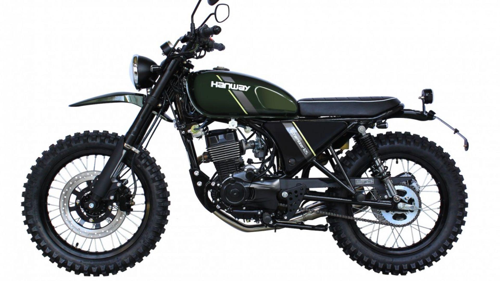 novit moto hanway 125 scrambler low cost da euro motorbox. Black Bedroom Furniture Sets. Home Design Ideas