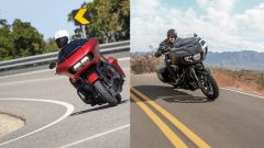 Harley-Davidon Road Glide e Indian Challenger