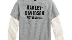 Harley Davidson Black Label TEXTURED STRIPE LAYER TEE