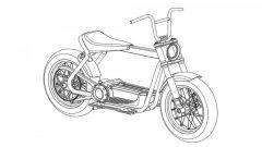 Harley-Davidson City Speedster: 3/4 anteriore del disegno del brevetto