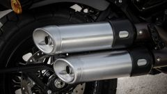 Harley Davidson Fat Bob 114 MY 2018: dettaglio dei terminali di scarico
