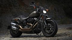 Harley Davidson Fat Bob 114 MY 2018: vista 3/4 anteriore