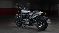 Harley Davidson Fat Bob 114 MY 2018: vista 3/4 posteriore