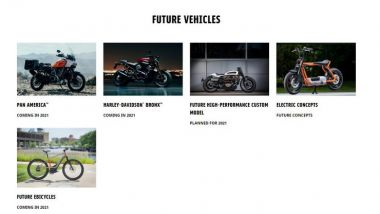 Harley-Davidson: la nuova pagina dei futuri modelli