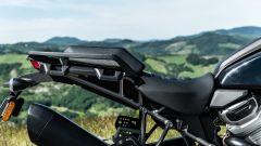 Harley Davidson Pan-America 1250 Special, gli attacchi per le valigie integrati nel telaietto reggisella