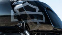 Harley Davidson Pan-America 1250 Special, il marchio stilizzato sul serbatoio