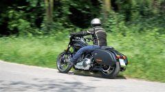 Harley Davidson Sport Glide durante il test