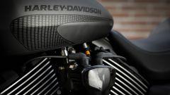 Harley-Davidson Street Rod 750, il motore visto dal lato sinistro