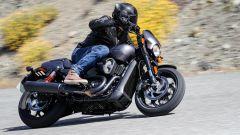 Harley-Davidson Street Rod 750, il radiatore è ben integrato e nascosto alla vista