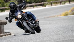 Harley-Davidson Street Rod 750, le pedane sono troppo basse e avanzate