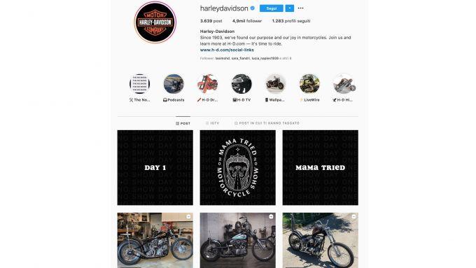 Harley-Davidson su Instagram