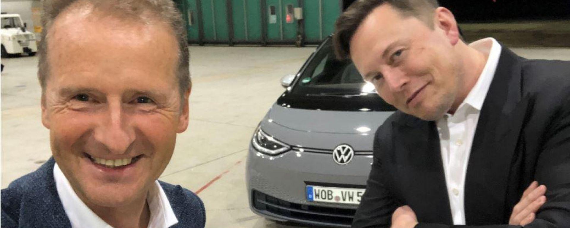 Herbert Diess, Elon Musk e la Volkswagen ID.3