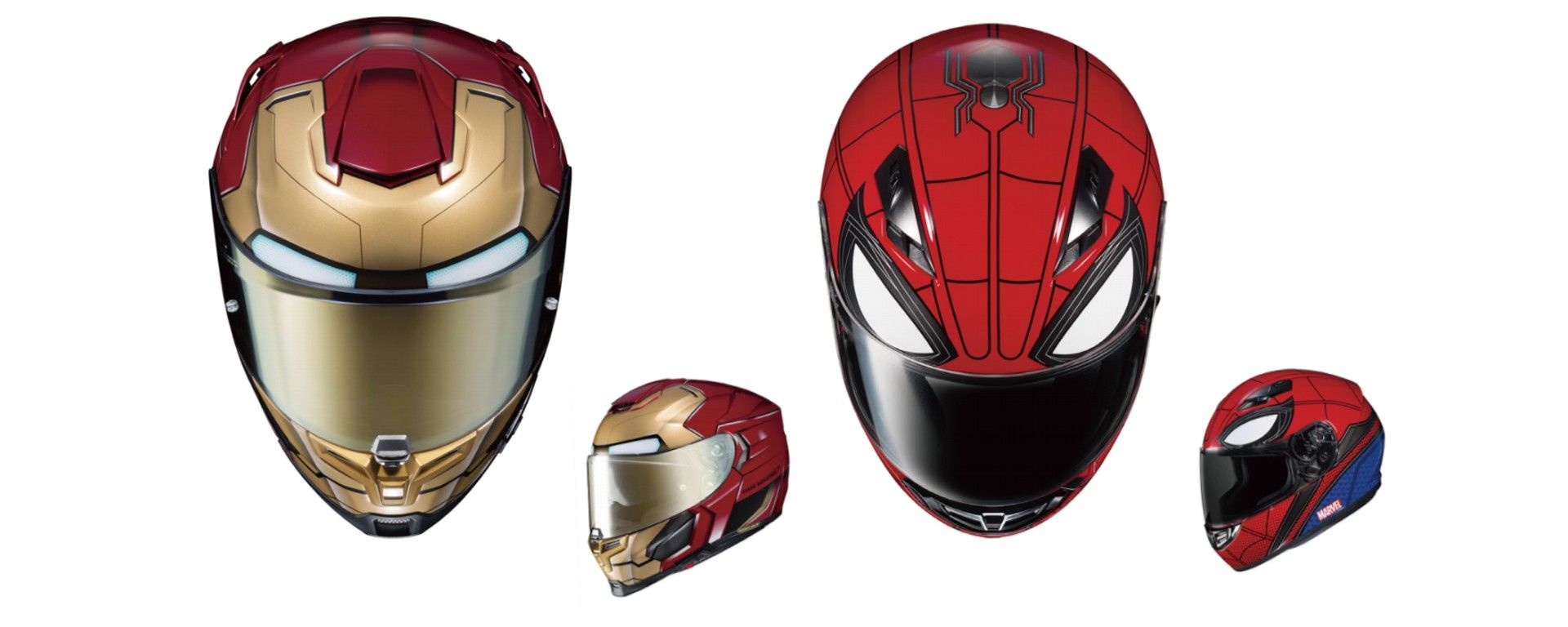 HJC e Marvel: arrivano i nuovi caschi ispirati ai Spider-Man e IronMan