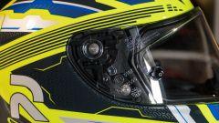 HJC RPHA11: il meccanismo di sgancio della visiera è pratico e veloce
