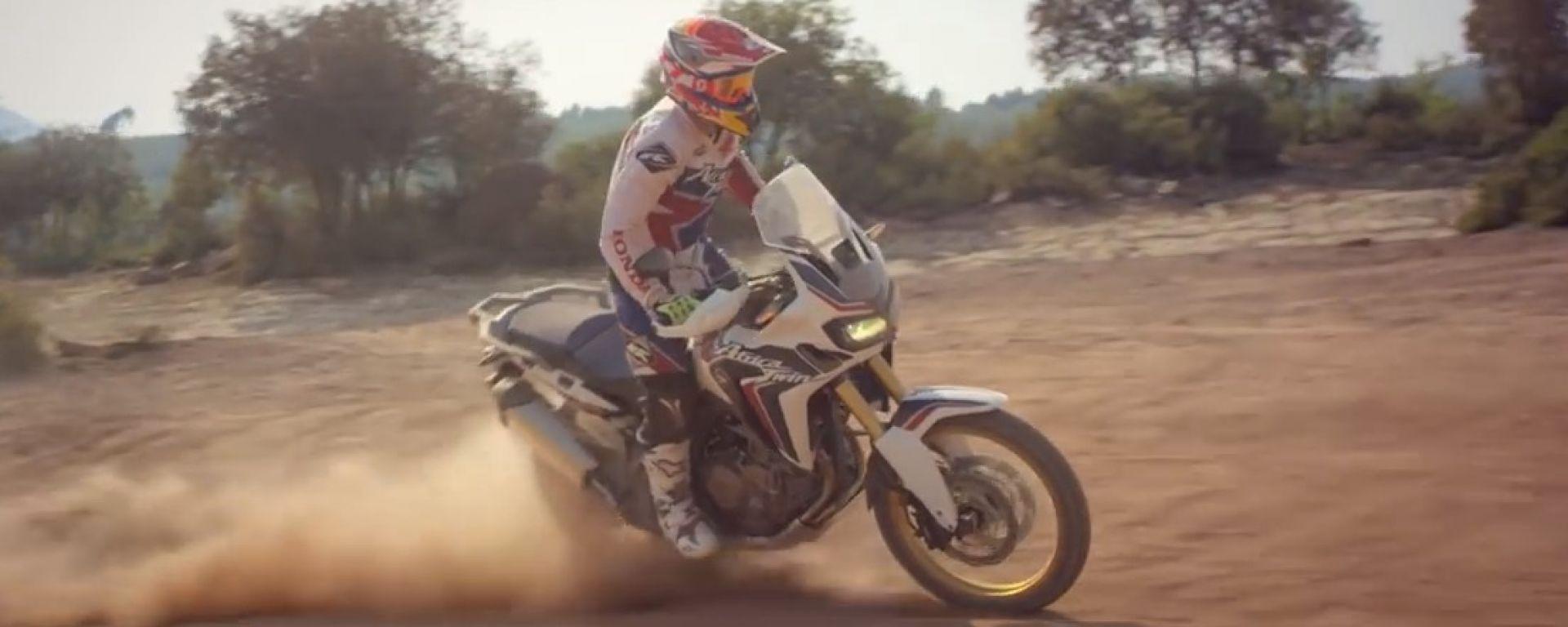 Honda Africa Twin 2015 : la provano Marquez e Barreda
