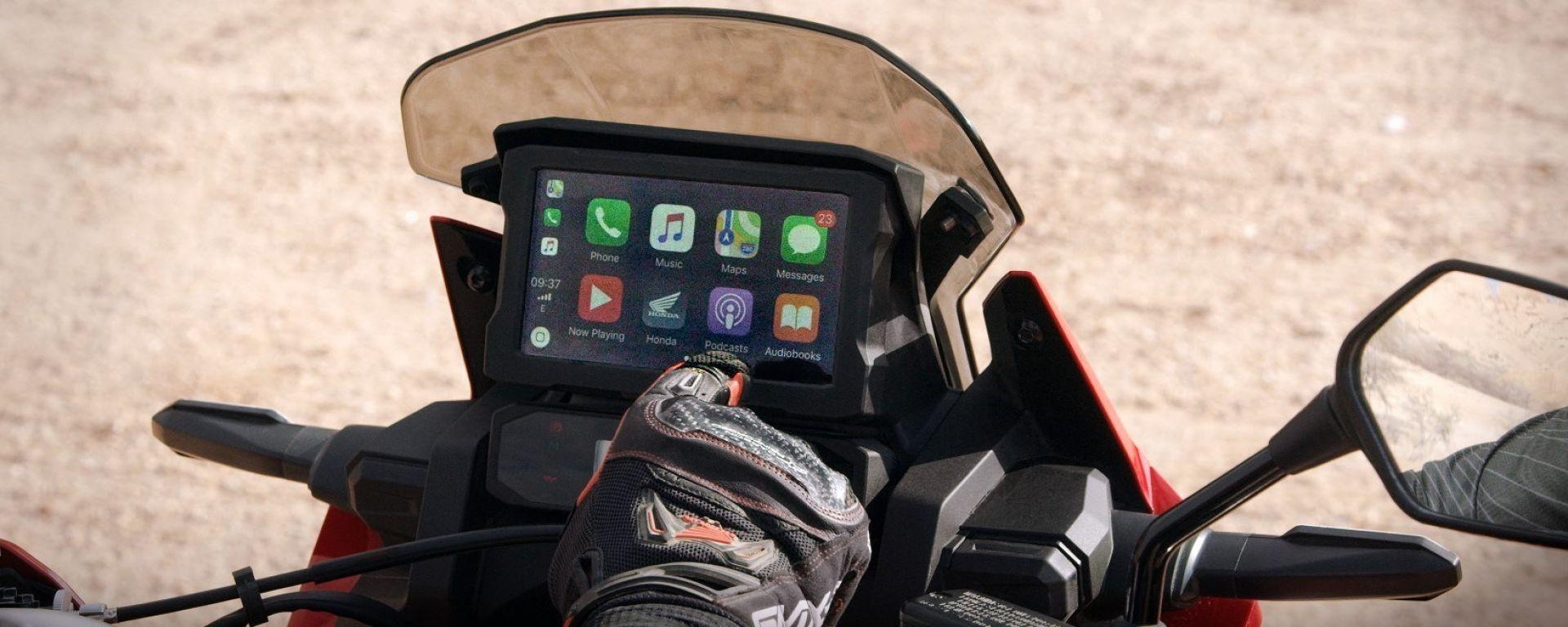 Honda Africa Twin è ora compatibile con Android Auto
