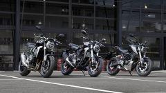Honda CB 125R a confronto con le versioni di 300 e 1.000 cc