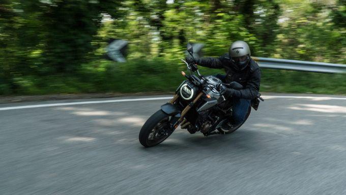 Honda CB650R in azione