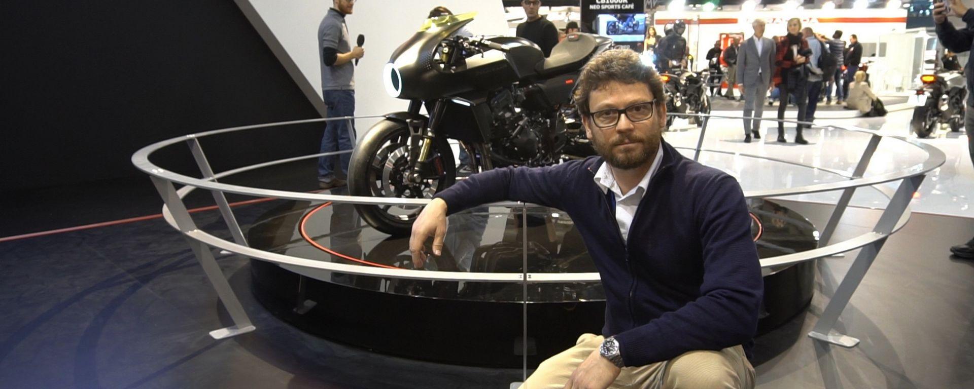 Honda CB4 Interceptor, a EICMA 2017 una concept futuristica [VIDEO]
