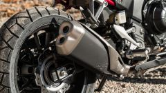 Honda CB500X 2021: dettaglio del terminale di scarico