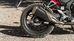 Honda CB500X 2021: dettaglio della ruota posteriore