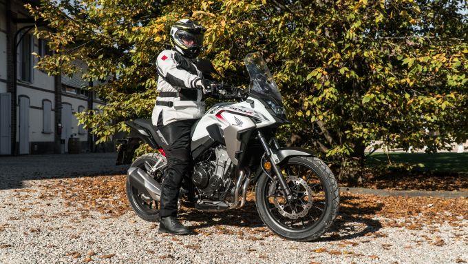 Honda CB500X 2021: l'abbigliamento della prova