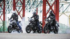 Honda CB650F vs Yamaha MT-07 vs Kawasaki Z650: la prova comparativa