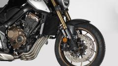 Honda CB650R: dettaglio 3/4 anteriore