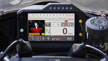 Honda CBR 1000 Fireblade 2020: dettaglio del display