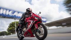 Honda CBR650R in pista