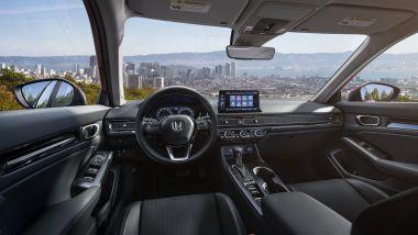 Honda Civic 2022: gli interni