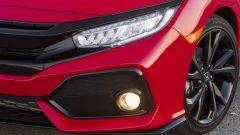 Honda Civic 5 porte 2017: dettaglio del grintosissimo frontale