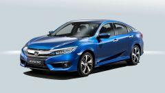 Honda Civic berlina, in arrivo a fine anno: vista 3/4 anteriore