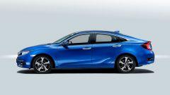 Honda Civic berlina, in arrivo a fine anno: vista laterale