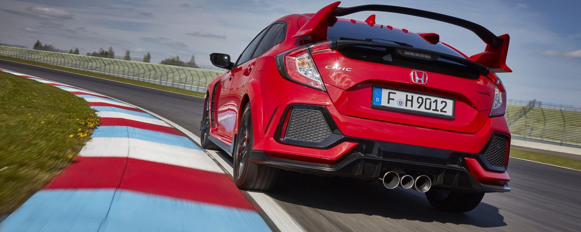 Honda Civic Type-R 2017: il posteriore