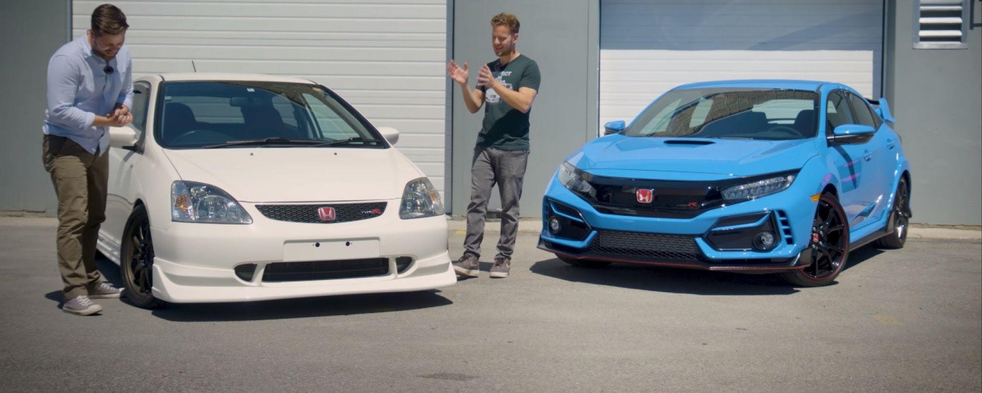 Honda Civic Type R a confronto: la versione 2020 contro la 2002