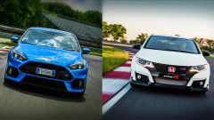 Honda Civic Type R vs Ford Focus RS in pista: guarda il video  - Immagine: 1