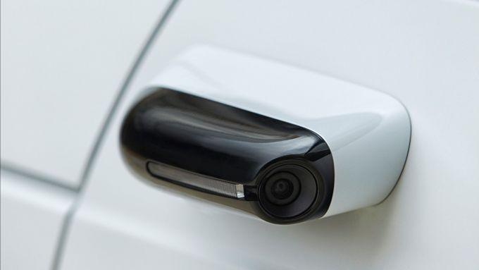Honda e: le telecamere al posto degli specchietti retrovisori